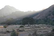 Sunset over Malibu Creek State Park