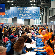 October 31, 2013 - New York, NY : People crowd the Jacob K. Javits Center on Thursday afternoon during the New York City Marathon Expo. CREDIT: Karsten Moran for The New York Times