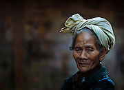 Portrait of a Khamu woman near Luang Prabang, Laos.