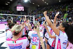 03-02-2019 ITA: Igor Gorgonzola Novara - Pomi Casalmaggiore, Verona <br /> Finali Samsung Coppa Italia 2018-2019 Pallavolo Femminile / Team Novara with Celeste Plak #4 of Novara<br /> <br /> *** Netherlands use only ***