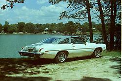 1974 Pontiac Lemans - shot at Lake Bloomington <br /> <br /> <br /> Archive slide, negative and print scans.
