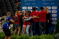 BRÜSEWITZ Thomas (GER), JACOBS Torben (GER), ZELESNY Jana (GER), CONGIA Chiara (GER), VAN GERVEN Justin (GER), KNAUF Corinna (GER), Danny Boy OLD<br /> Tryon - FEI World Equestrian Games™ 2018<br /> Norka des VV Koeln-Duennwald Team<br /> Nations Team Vaulting Championship<br /> 19. September 2018<br /> © www.sportfotos-lafrentz.de/Stefan Lafrentz