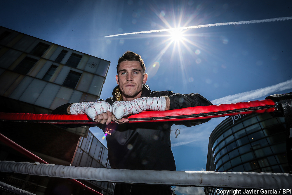 Liverpool Boxer Callum Smith during the workout at the Liverpool One