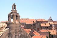 Dubrovnik bell tower and terracotta<br /> rooftops<br /> Dubrovnik, Croatia<br /> c. Ellen Rooney