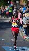 London. United Kingdom. 2014 London Marathon.  Narrow Street Limehouse, East London. Athletics 10:40:38  Sunday  13/04/2014  [Mandatory Credit; Peter SPURRIER/ Intersport Images],