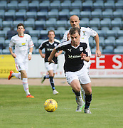 Dundee's Paul McGowan bursts away from Inverness&rsquo; David Raven - Dundee v Inverness Caledonian Thistle in the Ladbrokes Premiership at Dens Park<br /> <br />  - &copy; David Young - www.davidyoungphoto.co.uk - email: davidyoungphoto@gmail.com