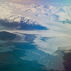 Chugach Mountains and Gulf of Alaska, South Central Alaska, US