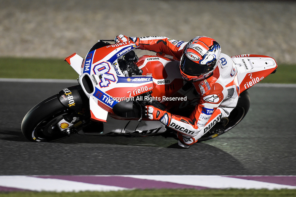 18.03.2016. Losail International Circuit, Doha, Qatar.Commercial Bank Grand Prix of Qatar. Andrea Dovizioso (Ducati team) during the free practice sessions.