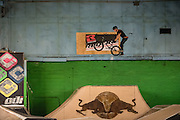 CLEVELAND - JANUARY 30:  Ray's Indoor Mountain Bike Park rookie of the year contest Saturday, January 30, 2016. (Photo by Bryan Mitchell)