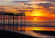 Isle of Palms fishing pier sunrise