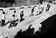 The boys march in a parade through the streets of Ramallah. <br /> Sep. 2002. The boys from Ramallah.