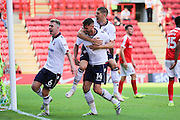 Bolton Wanderers forward Gary Madine (14) celebrates after scoring 0-1 during the EFL Sky Bet Championship match between Charlton Athletic and Bolton Wanderers at The Valley, London, England on 27 August 2016. Photo by Matthew Redman.