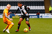 Ethan Erhahon of St Mirren gets by Craig Sibbald of Livingston during the Ladbrokes Scottish Premiership match between St Mirren and Livingston at the Simple Digital Arena, Paisley, Scotland on 2nd March 2019.