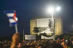 November 29, 2016 - Havana, Cuba - Raul Castro, Cuba's current leader, members of the Cuban Government, many head-of-states and officials from all around the world, and hundreds of thousands Cubans, pay tribute to Fidel Castro, the former Prime Minister and President of Cuba, who die on the late night of November 25, 2016, at age of 90. .On Tuesday, 29 November 2016, in the Revolution Square, Havana, Cuba. (Credit Image: © Artur Widak/NurPhoto via ZUMA Press)