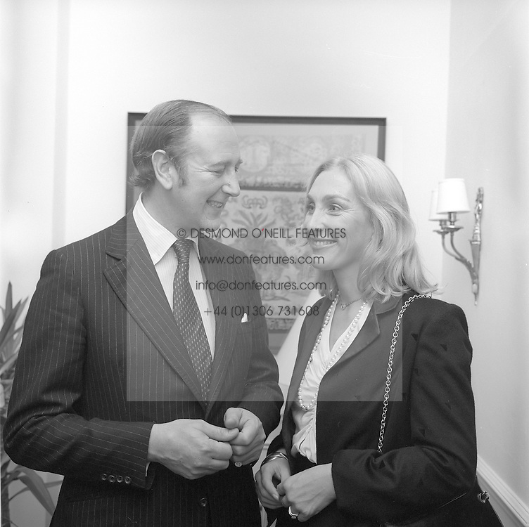The 10th EARL OF SHAFTESBURY & COUNTESS OF SHAFTESBURY in 2ND October 1980.<br /> IRE 33
