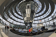 Berlin, Germany. Reichstag. Reichstagskuppel (dome) by Sir Norman Foster.