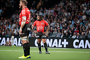 MATHIEU BASTAREAUD (Rugby Club Toulonnais), Duane Vermeulen (Rugby Club Toulonnais) during the French Championship Top 14 Rugby Union match between Racing 92 and RC Toulon on April 8, 2018 at U Arena in Nanterre, France - Photo Stephane Allaman / ProSportsImages / DPPI