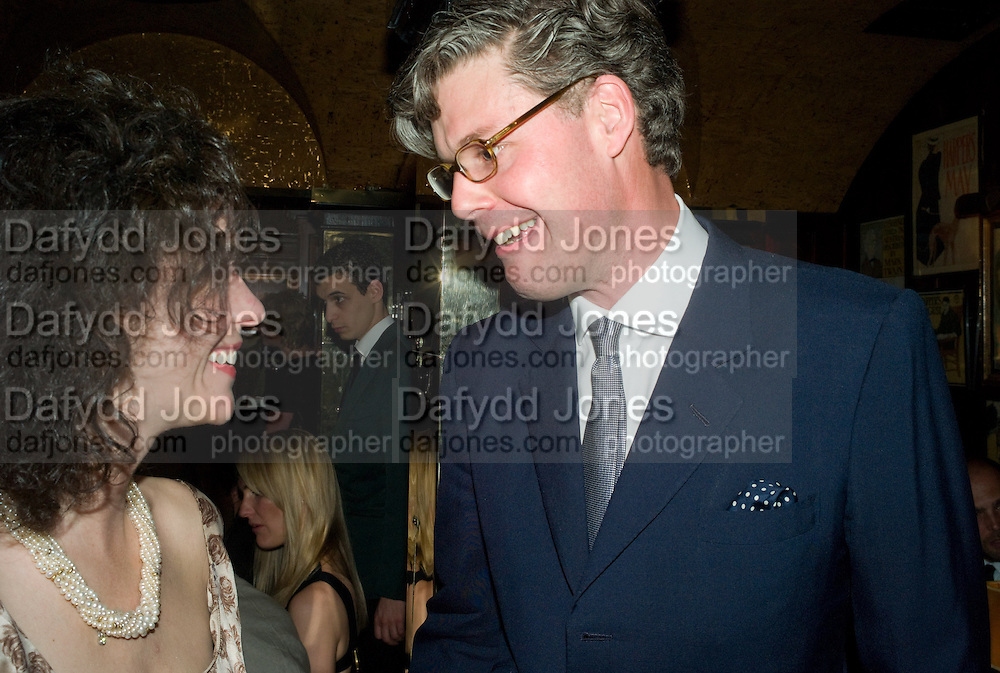 MOLLIE DENT-BROCKLEHURST AND  MICHAEL HUE-WILLIAMS, Richard Prince opening at the Serpentine gallery and afterwards at Annabels. London. 25 June 2008 *** Local Caption *** -DO NOT ARCHIVE-© Copyright Photograph by Dafydd Jones. 248 Clapham Rd. London SW9 0PZ. Tel 0207 820 0771. www.dafjones.com.