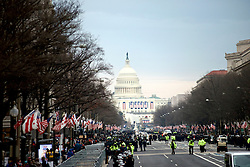 27.000 law enforcement personal is employed to ensure the security during the Inauguration of Donald Trump as the 45th President of the United States, on Jan. 20th, 2017, in Washington, D.C.