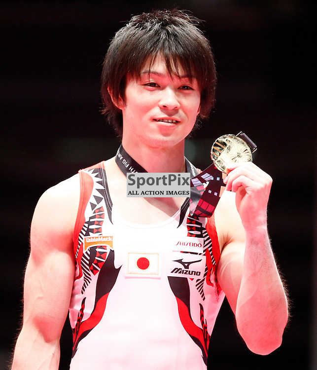 2015 Artistic Gymnastics World Championships being held in Glasgow from 23rd October to 1st November 2015.....Japan's Kohei Uchimura Gold medal winner in the Men's All-Round Final...(c) STEPHEN LAWSON | SportPix.org.uk