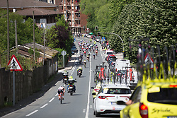 Riders descend on a fast downhill section of Stage 5 of the Emakumeen Bira - a 95.2 km road race, starting and finishing in Errenteria on May 21, 2017, in Basque Country, Spain. (Photo by Balint Hamvas/Velofocus)