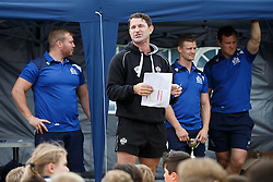 Ben Breeze from the Bristol Rugby Community Foundation looks on as Local Junior Schools compete in a Tag Rugby Competion - Mandatory byline: Rogan Thomson/JMP - 07966 386802 - 14/07/2015 - SPORT - RUGBY UNION - Bristol, England - Durdham Downs -  Webb Ellis Cup visits Bristol as part of the 2015 Rugby World Cup Trophy Tour