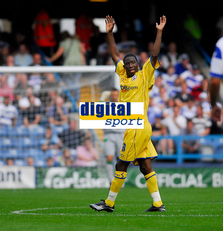 Photo: Leigh Quinnell.<br /> Queens Park Rangers v Southampton. Coca Cola Championship. 01/09/2007. Bradley Wright-Phillips celebrates scoring Southamptons third goal.
