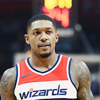 09 December 2017: Washington Wizards guard Bradley Beal (3) is seen during the LA Clippers 113-112 victory over the Washington Wizards, at the Staples Center, Los Angeles, California, USA.