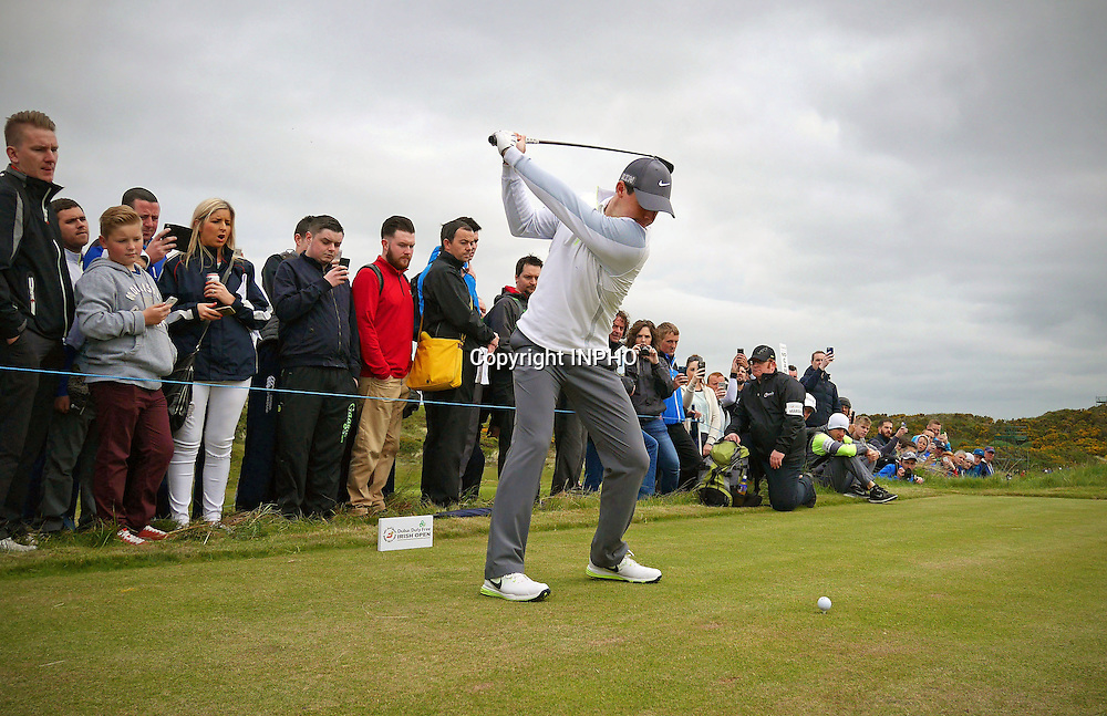 2015 Dubai Duty Free Irish Open Pro-Am, Royal County Down Golf Club, Co. Down 27/5/2015 <br /> Rory McIlroy<br /> Mandatory Credit &copy;INPHO/Cathal Noonan