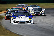 October 3-5, 2013. Lamborghini Super Trofeo - Virginia International Raceway. Start of race 1 at VIR.
