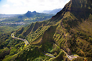 Pali Highway, Koolau Mountains, Oahu, Hawaii