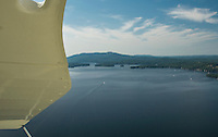 Aerial view of Lake Sunapee from Lakes Biplane