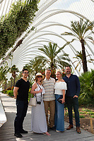 Group at City of Arts and Sciences with Richard and the crew from Fontile pause in the garden for a portrait.