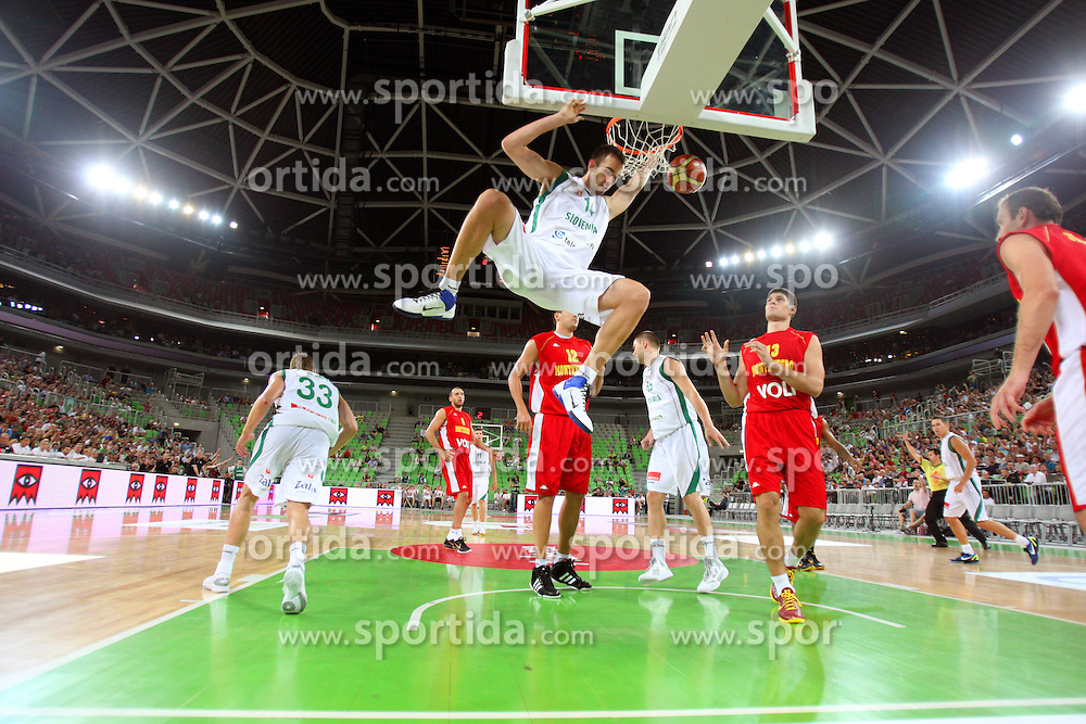Mirza Begic of Slovenia at friendly match between Slovenia and Montenegro for Adecco Cup 2011 as part of exhibition games before European Championship Lithuania on August 7, 2011, in SRC Stozice, Ljubljana, Slovenia. (Photo by Urban Urbanc / Sportida)
