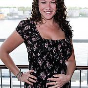 NLD/Amsterdam/20120515 - Bekendmaking Mooiste Benen van Nederland 2012, zwangere Jessica Mendels