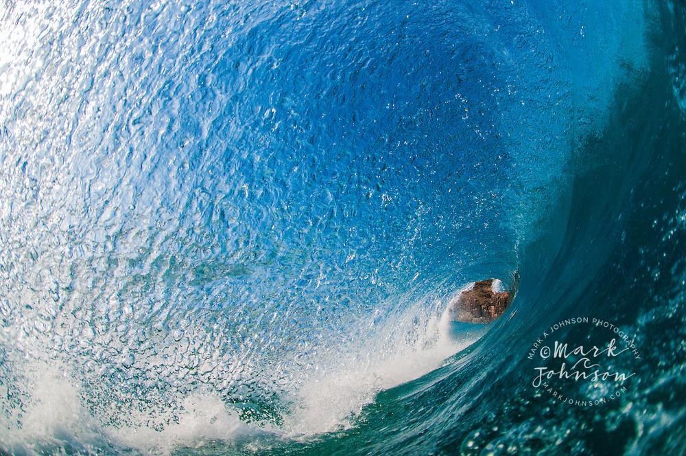 Breaking wave off of North Stradbroke Island, Queensland, Australia