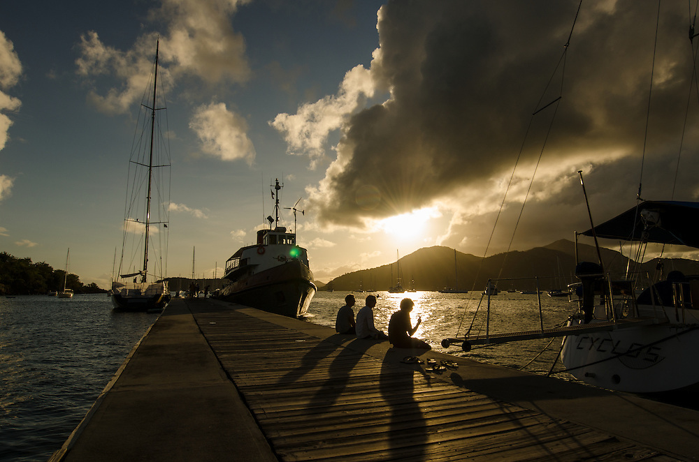 The night before the classic yacht race. <br />