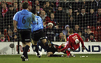 Photo: Paul Thomas.<br /> Nottingham Forest v Salisbury. The FA Cup. 12/12/2006.<br /> <br /> Nathan Tyson (9) of Forest scores.