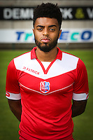 Tristan Dingome pictured during the 2015-2016 season photo shoot of Belgian first league soccer team Royal Mouscron Peruwelz, Thursday 16 July 2015 in Mouscron.