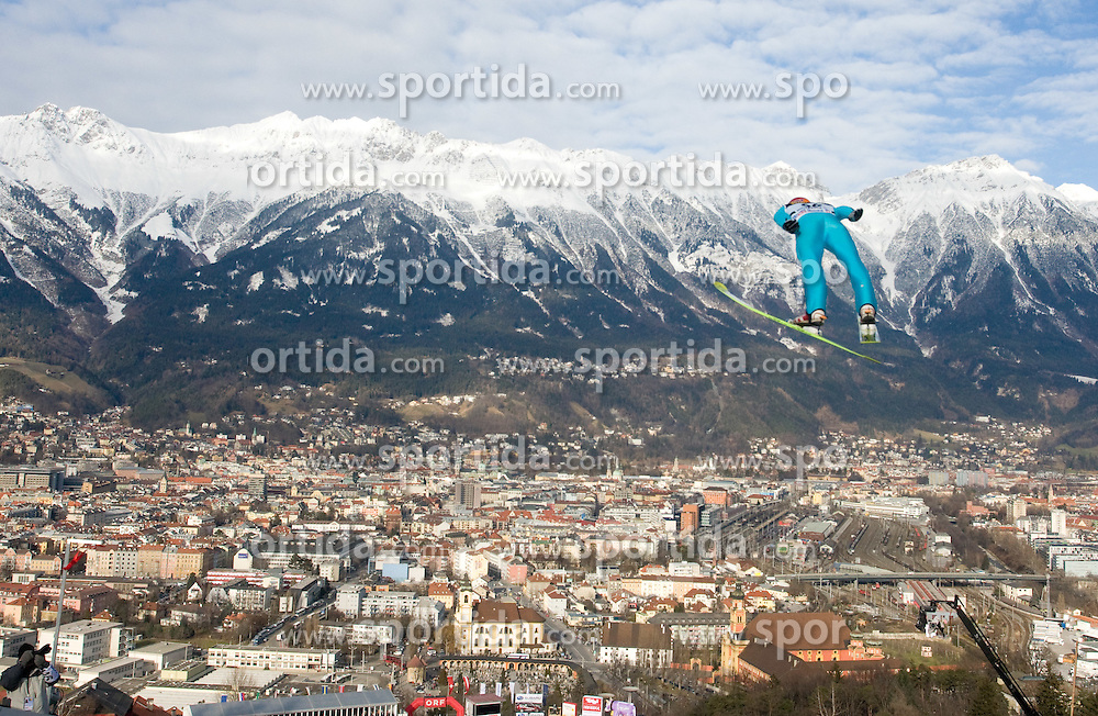 Harri Olli of Finland competes during Qualification round of the FIS Ski Jumping World Cup event of the 58th Four Hills ski jumping tournament, on January 3, 2010 in Bergisel, Innsbruck, Austria.(Photo by Vid Ponikvar / Sportida)