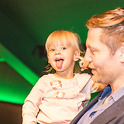 NLD/Amsterdam/20161126 - Studio 100 Winterfestival, Dennis van der Geest met dochter