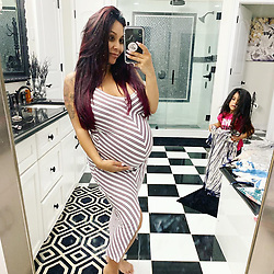 "Nicole Polizzi releases a photo on Twitter with the following caption: """"Which Snooki Shop Dress should I wear for my Sprinkle this weekend?! Even though they aren't maternity , they provide stretch &amp; comfort! <br /> https://t.co/yxSfUCnTqe"""". Photo Credit: Twitter *** No USA Distribution *** For Editorial Use Only *** Not to be Published in Books or Photo Books ***  Please note: Fees charged by the agency are for the agency's services only, and do not, nor are they intended to, convey to the user any ownership of Copyright or License in the material. The agency does not claim any ownership including but not limited to Copyright or License in the attached material. By publishing this material you expressly agree to indemnify and to hold the agency and its directors, shareholders and employees harmless from any loss, claims, damages, demands, expenses (including legal fees), or any causes of action or allegation against the agency arising out of or connected in any way with publication of the material."