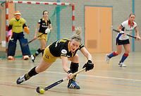 UTRECHT - Hoofdklasse Zaalhockey: Vera Vorstenbosch van den Bosch tijdens de wedstrijd tussen de vrouwen van Den Bosch en SCHC.  FOTO KOEN SUYK