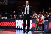 Ettore Messina<br /> A X Armani Exchange Olimpia Milano - Germani Basket Brescia<br /> Basket Serie A LBA 2019/2020<br /> MIlano 29 September 2019<br /> Foto Mattia Ozbot / Ciamillo-Castoria