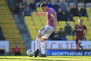 Ian Henderson shoots during the EFL Sky Bet League 1 match between Bradford City and Rochdale at the Northern Commercials Stadium, Bradford, England on 20 October 2018.