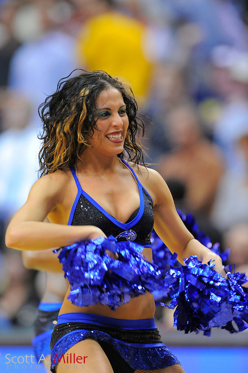 Orlando Magic dancers perform during the Magic's game against the Cleveland Cavaliers at Amway Arena, Florida, February 21, 2010..©2010 Scott A. Miller