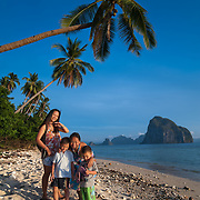 Family vacationing in Palawan, Philippines