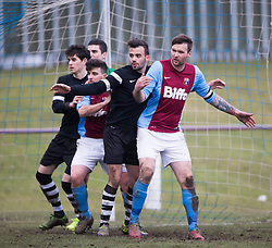 Whitehill Welfare Andrew Kidd.<br /> Whitehill Welfare 2 v 1 Edusport Academy, South Challenge Cup Quarter Final played 7/3/2015 at Ferguson Park, Carnethie Street, Rosewell.