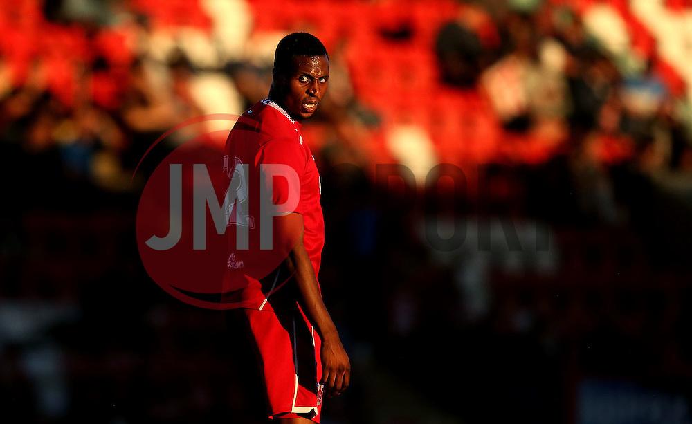 Jonathan Kodjia of Bristol City - Mandatory by-line: Robbie Stephenson/JMP - 25/07/2016 - FOOTBALL - Abbey Business Stadium - Cheltenham, England - Cheltenham Town v Bristol City - Preseason Friendly