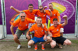 09-06-2012 VOETBAL: UEFA EURO 2012 DAY 2: POLEN OEKRAINE<br /> Supporters of Netherlands at Fan zone in the City centre during the UEFA EURO 2012 <br /> ***NETHERLANDS ONLY***<br /> ©2012-FotoHoogendoorn.nl